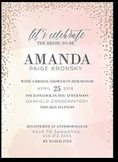 dazzling watercolor bridal shower invitation