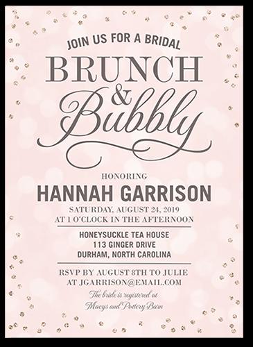 Bubbly 5x7 Bridal Shower Invitation