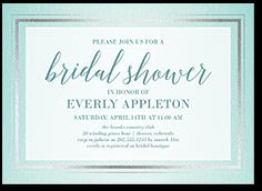 gracefully simple bridal shower invitation