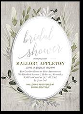 bountiful greenery bridal shower invitation