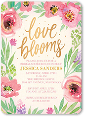 ladylike blossoms bridal shower invitation