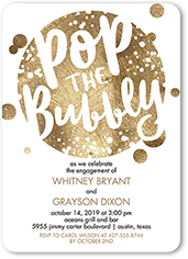 bubbly affair engagement party invitation