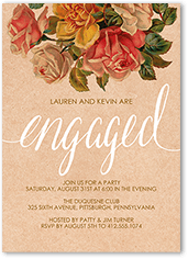 engagement party invitation from 164 082 darling bouquet