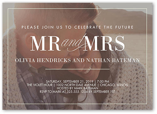 Our Beginning Engagement Party Invitation, Square Corners