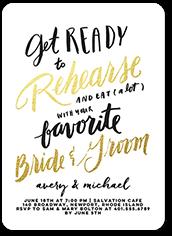 favorite couple rehearsal dinner invitation