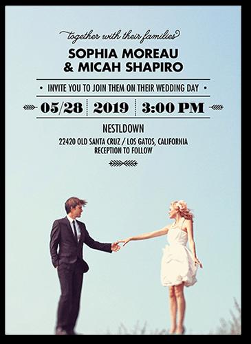 Floating Fairytale Wedding Invitation, Square Corners
