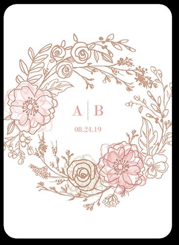 Floral Fringe Wedding Invitation