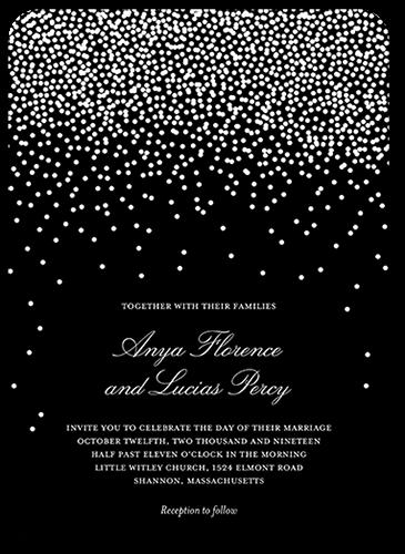 Diamond Sky Wedding Invitation, Rounded Corners