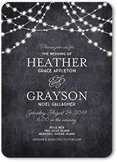 glowing ceremony wedding invitation