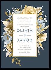 delicate blooms wedding invitation
