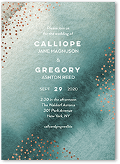 delicate wash wedding invitation