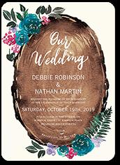 gorgeous blossoms wedding invitation