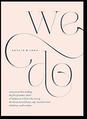 elegant embellishment wedding invitation