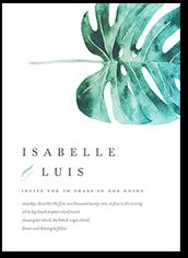 painted leaf wedding invitation