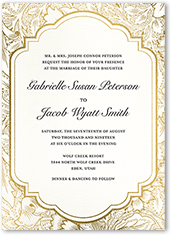 ornate petals wedding invitation