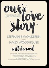 abiding devotion wedding invitation