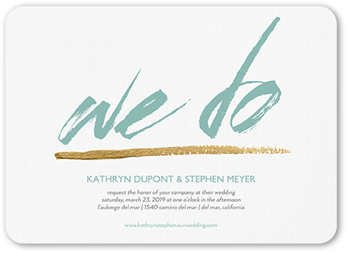 Passionate Promise Wedding Invitation, Rounded Corners