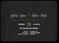 simply radiant wedding invitation