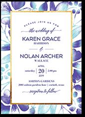sophisticated glamour wedding invitation