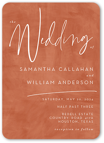 Textured Times wedding invitation in Copper by Magnolia Press for Wedding Paper Divas at The Wedding Shop by Shutterfly