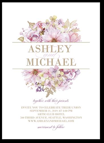 Watercolor Bouquet 5x7 Wedding Invitations Shutterfly