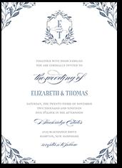 classic herald wedding invitation