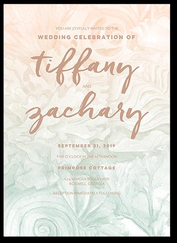 Coastal Hues Wedding Invitation, Square Corners