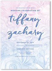 coastal hues wedding invitation