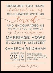 elegant delight wedding invitation