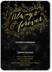 dazzling flare wedding invitation