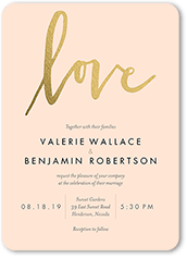 Custom Color Palette Colors Of This Design Can Be Customized. Dipped Love  Modest. Wedding Invitation