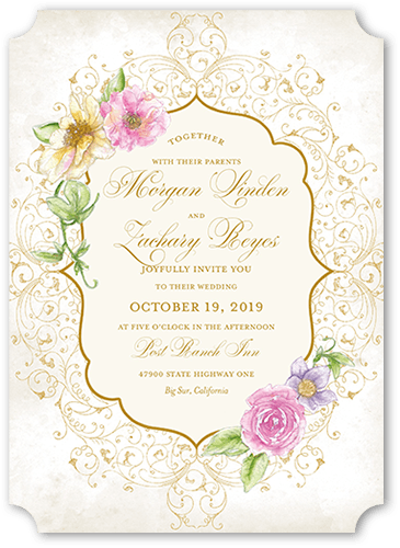 elegant enchantment wedding invitation - Shutterfly Wedding Invitations