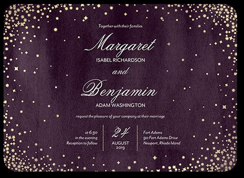 Elegant Sky Wedding Invitation, Rounded Corners