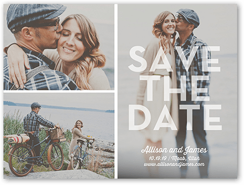 Lovely Date Save The Date, Square