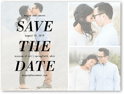 Focused On Love Save The Date, Square