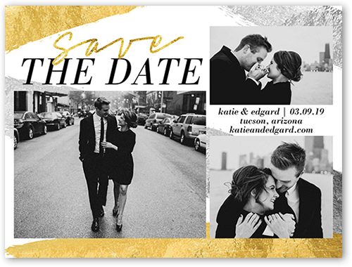 Shimmering Romance Save The Date, Square