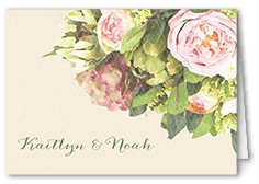 flowering affection thank you card
