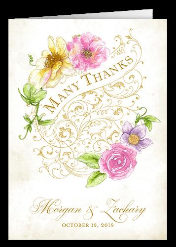 Elegant Enchantment Thank You Card