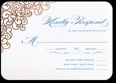 dazzling lace wedding response card