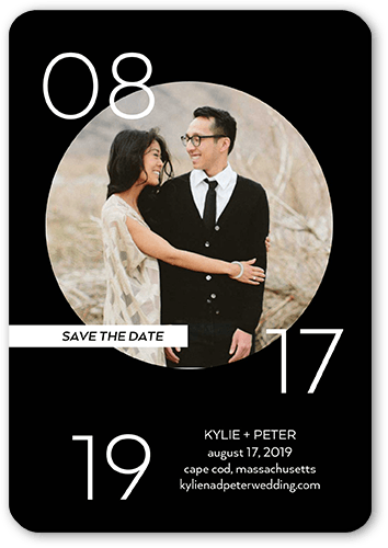 Circled Affection Save The Date, Square