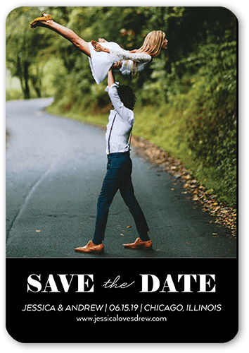 Clean Announcement Save The Date, Rounded Corners