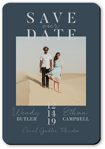 Modish Date Save The Date, Rounded Corners