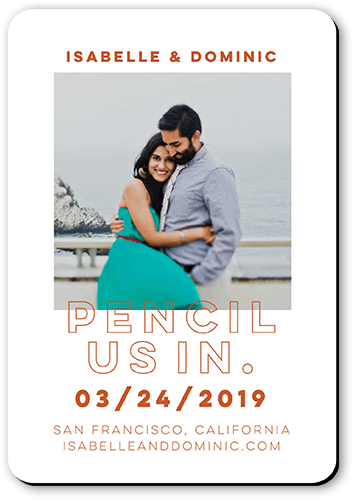 Pencil Us In Save The Date, Square