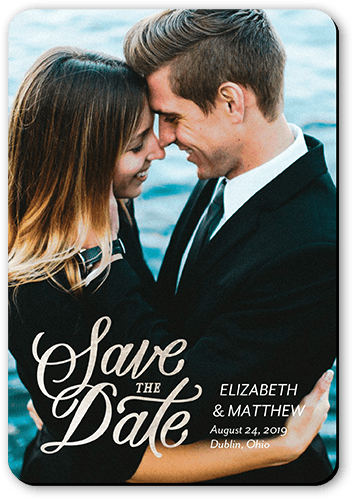 Simply Shimmering Date Save The Date, Square