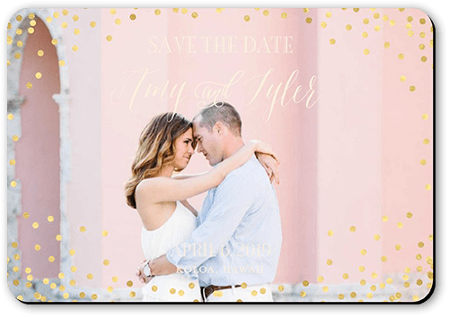 Effervescent Sparkle Save The Date, Square