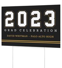 alum year yard sign