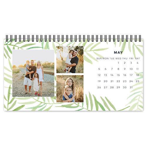 painted greenery desk calendar