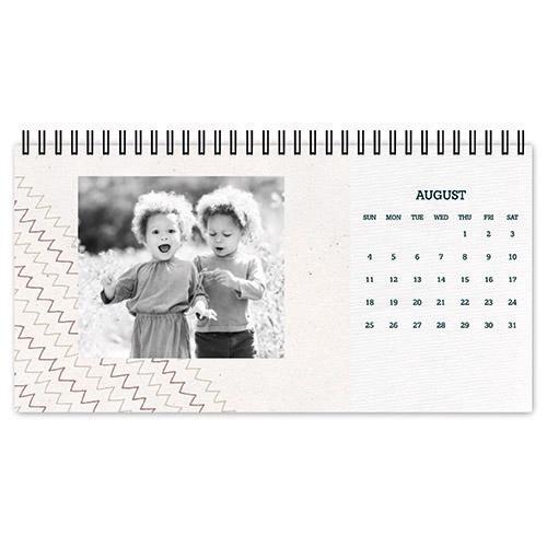 rustic textures desk calendar