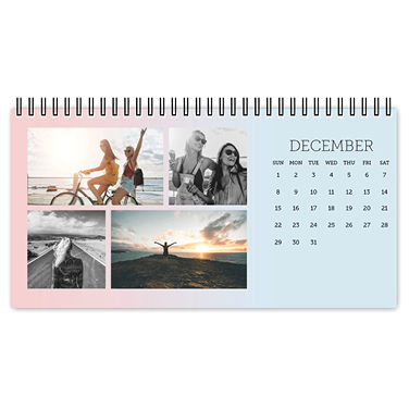 simple gradient desk calendar