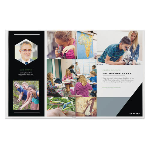 modern yearbook photo book